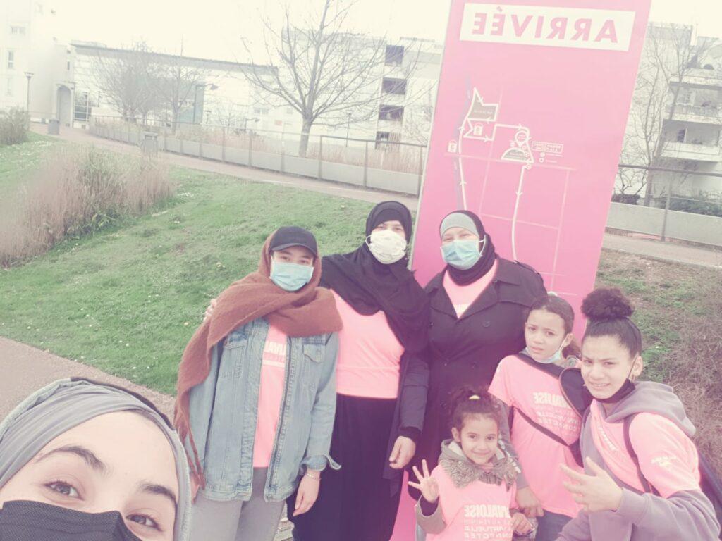 Famille Azzouz Layina, Jayda, Imane - Dossards n°390-391-2093