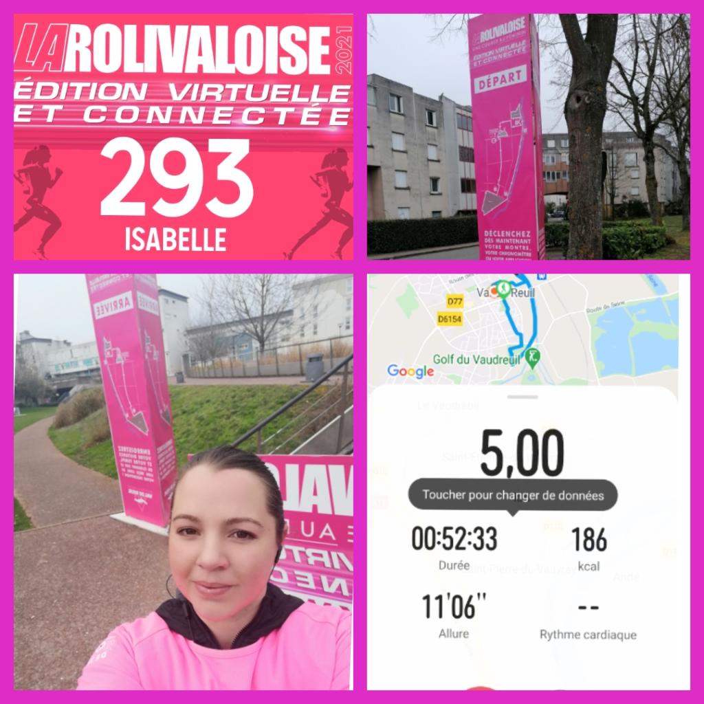 Défis des 5km de marche relevé, pour ma première participation à la rolivaloise !!