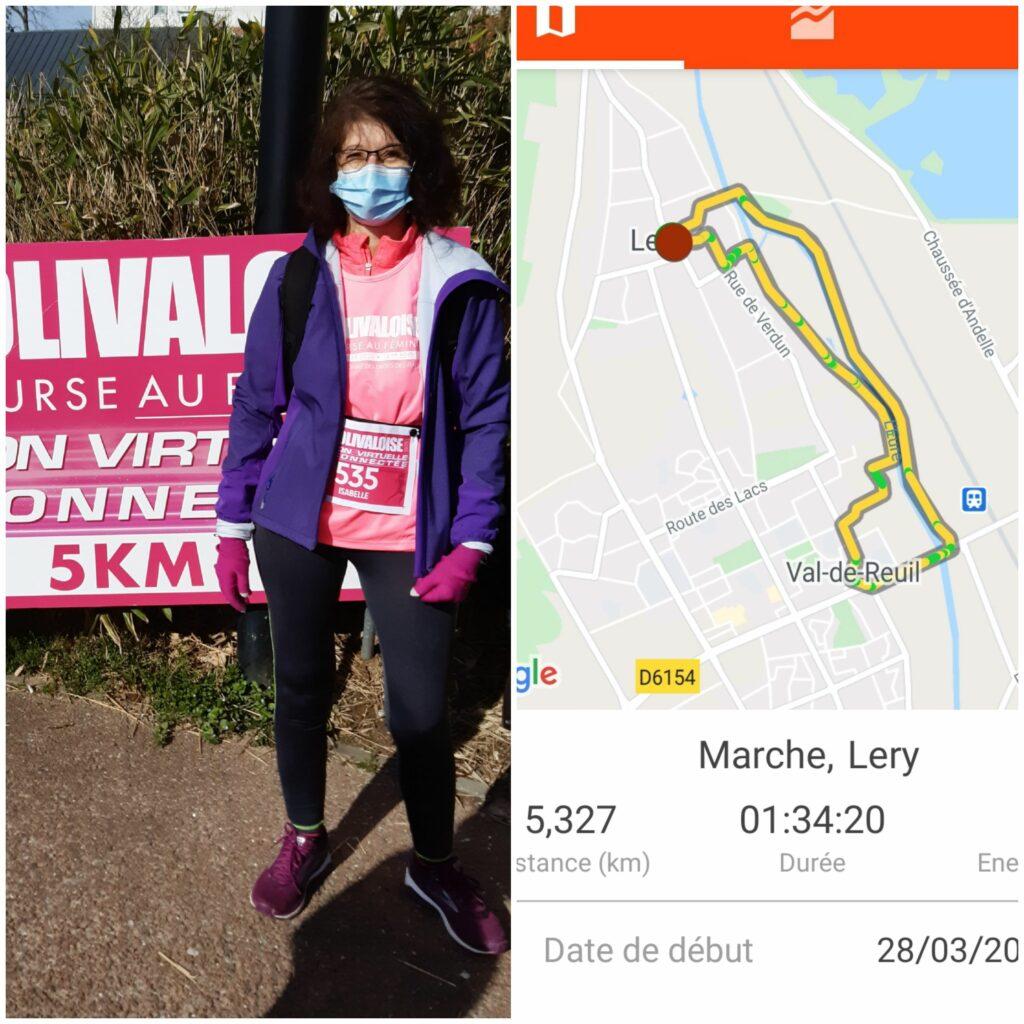 5,3km effectués le 28 mars 2021