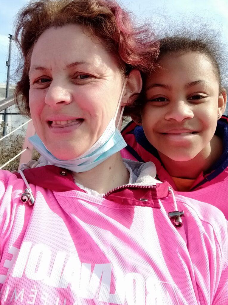 5 km marche sous le soleil mercredi après midi entre mère et fille