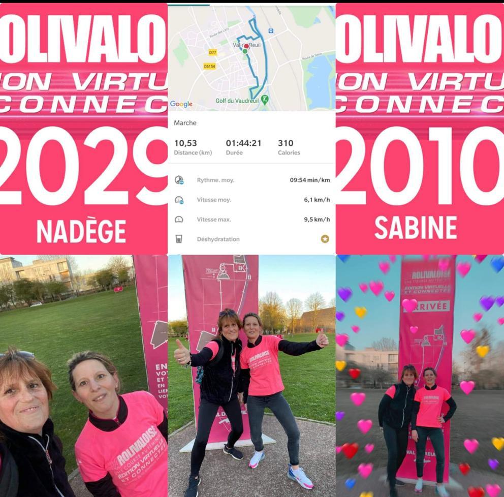 Nadège & Sabine - Dossard n°2029 & 2010