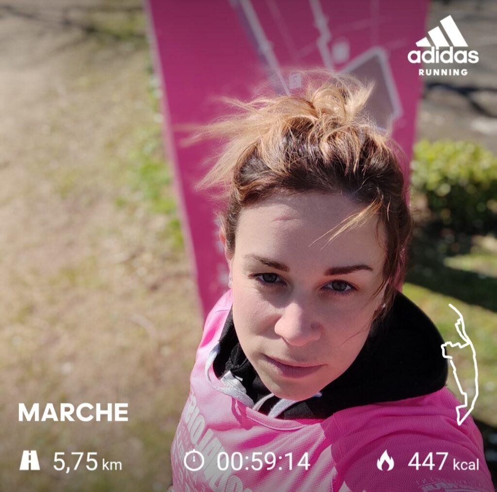"""Justine Vedie - Dossard n°20 - """"5km75 car je ne connais pas Val-de-Reuil et je me suis trompé dans le parcours près de l'eau"""""""