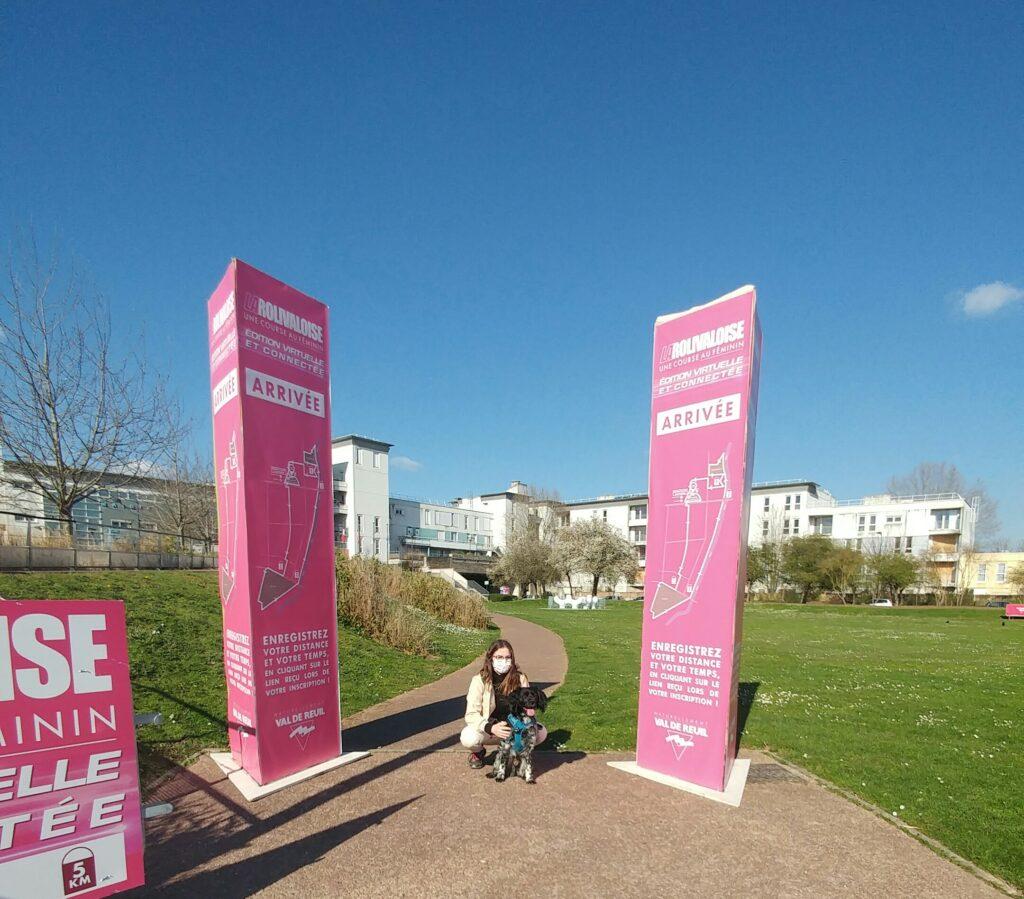"""Mathilde Dumont Dossard n°226 - """"Je suis très fière d'avoir permis à ma petite échelle de sensibiliser à la lutte contre le cancer du sein en participant à cette marche connectée."""""""