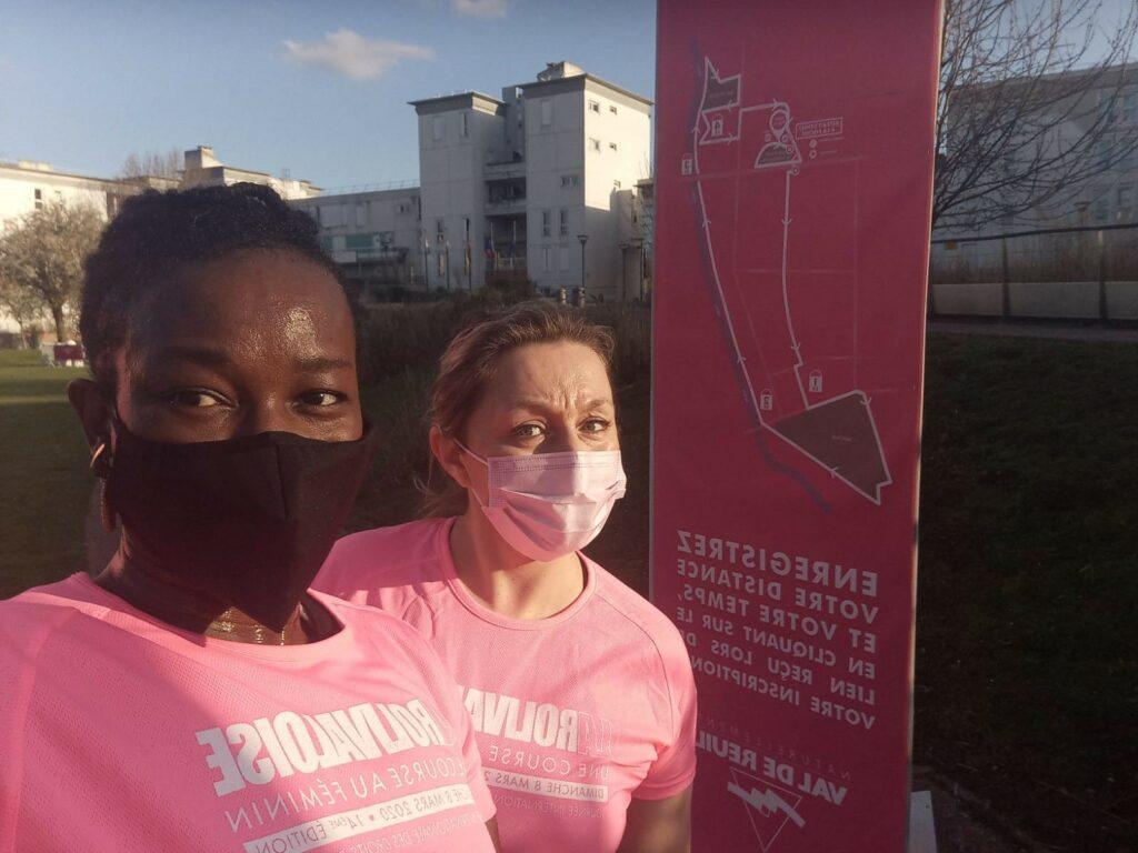 5km entre marche et course avec ma collègue Jennifer