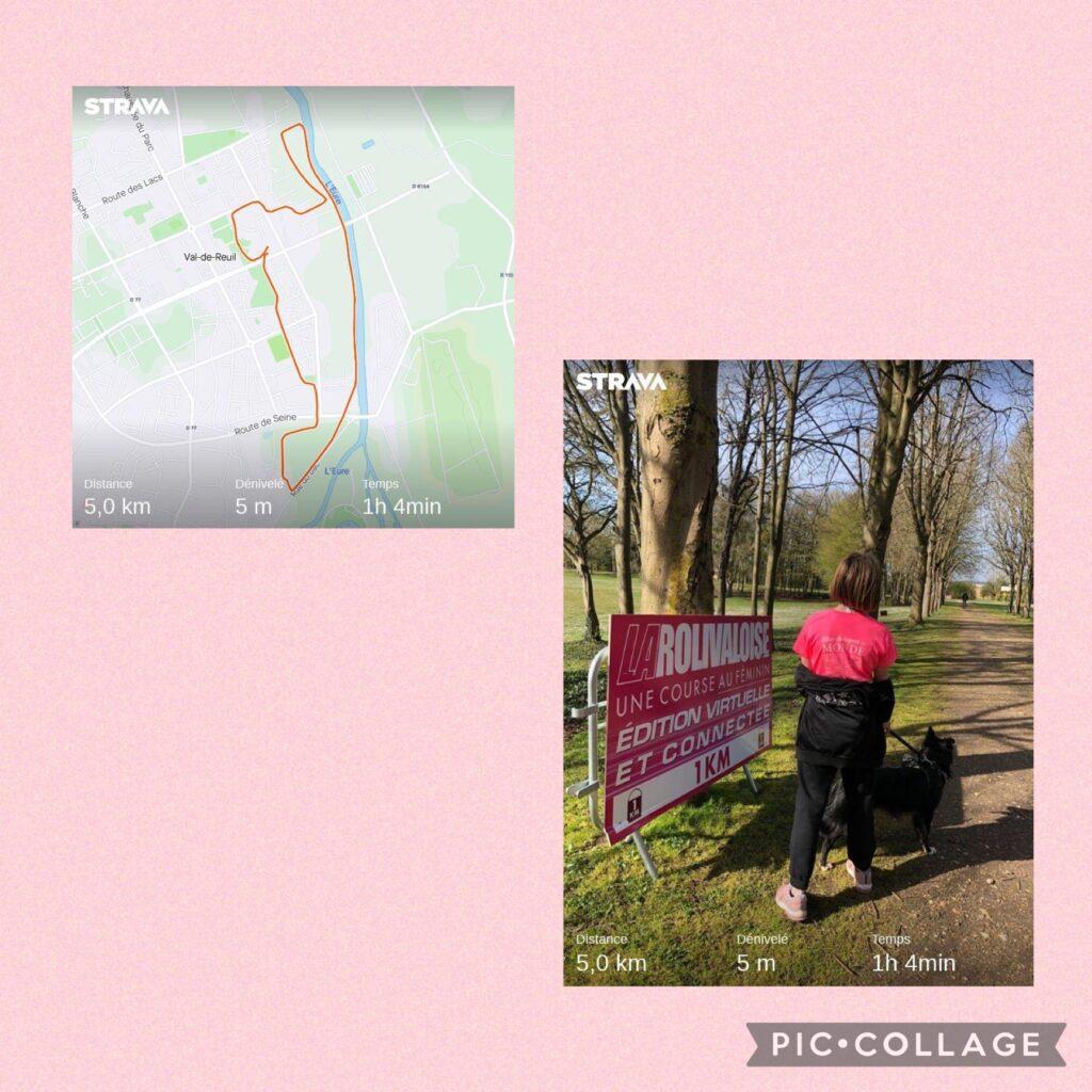 Voici ma photo pour le 5 km marche de la Rolivaloise 2021. J'ai le dossard 386 et j'ai fait la marche avec ma Maman qui a le dossard 1108..